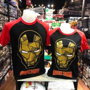 ไอรอน แมน สีดำ (Ironman face arm red CODE:1113)