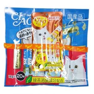 ครีมแมวเลีย ciao save pack ทูน่าปลาโอแห้ง สองแพค540รวมส่ง