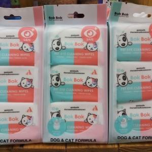 Bok Bok ทิชชูเปียกเช็ดรอบดวงตาหมาแมว สามแพค305รวมส่ง