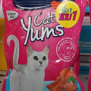 Vitakraft Cat Yums แซลมอนแถมชีส หกคู่530รวมส่ง