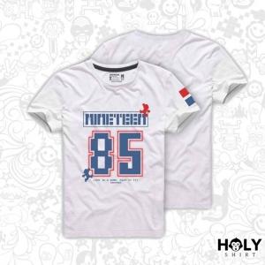 เสื้อเกมส์ สีขาว (Nine teen 85 (white))