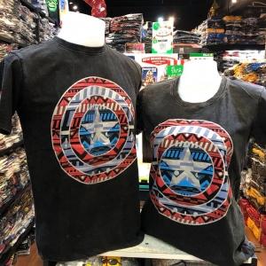 กัปตันอเมริกา สีดำ (Captain shield big)