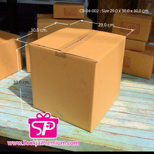 CB-04-002 : กล่องฝาชน ขนาด 29.0 × 30.0 × 30.0 ซม.