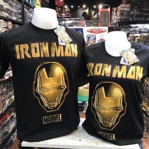 ไอรอน แมน สีดำ (Ironman BLACK logo gold)