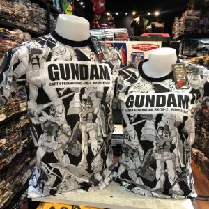 ลายกันดั้มและโลโก้ สีขาว (Gundam RX-78 Logo)