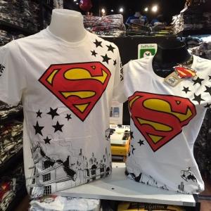 ซุปเปอร์แมน สีขาว (Superman red logo star CODE:1090)