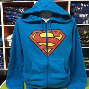 ซุปเปอร์แมน เสื้อกันหนาวฮู้ด (Superman blue logo)