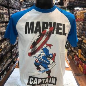 กัปตันอเมริกา สีขาว(Captain blue arm)