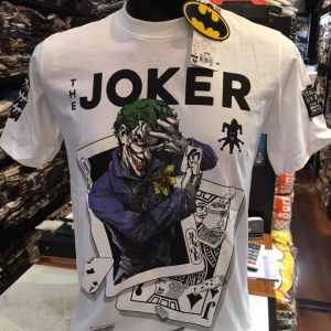 เสื้อ โจกเกอร์ สีขาว (Joker Arkham Haha White CODE:1082)