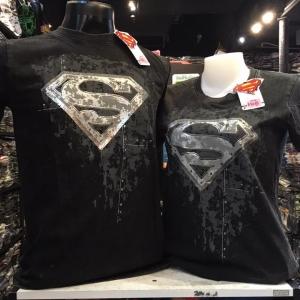 ซุปเปอร์แมน สีดำ (Superman silver logo washed CODE:0628)
