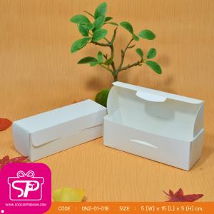 กล่องชิ้นเดียวฝาเปิดด้านบน สีคราฟธรรมชาติ ขนาด 5 x15 x 5 ซม. (บรรจุ 50 กล่องต่อแพ็ค)