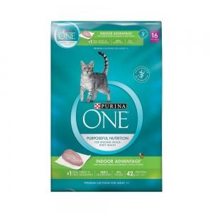 Purina One Adult Indoor Advantage เพียวริน่าวันแมวโต สูตรแมวเลี้ยงในบ้าน ขนาด 7.26 กิโลกรัม 1450รวมส่ง