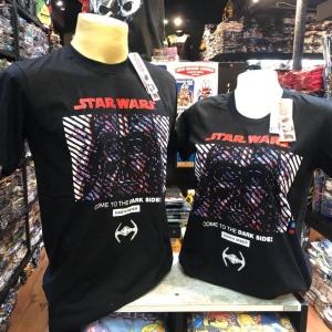 สตาร์วอร์ สีดำ (Darth Vader face logo red)
