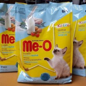 Me-o kitten มีโอ ปลาทะเล สำหรับลูกแมว ขนาด1.1kg สามถุง 335รวมส่ง