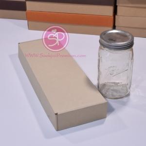 กล่องลูกฟูกลอนเล็ก สีน้ำตาล ขนาด 12.5 x 38.0 x 5.0 ซม. (บรรจุ 50 กล่องต่อแพ็ค)