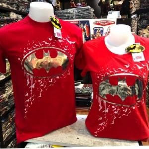 แบทแมน สีแดง (Batman Silver logo Red CODE:1066)
