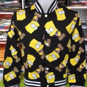 ซิมสัน เสื้อแจ็คเก็ตกันหนาว (Simpsons face tiny CODE:0947)