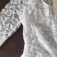 รหัส MN29 เสื้อลูกไม้เนื้อดีแขนยาวสีขาวเข้มเรียบหรู ตัดเย็บเรียบร้อย thumbnail 1