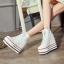 Preorder รองเท้าผ้าใบ (high help) 33-42 รหัส BF-7404-2 thumbnail 2