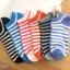 เซตถุงเท้า ลายทาง สีผสม ( 6 คู่ ) thumbnail 1