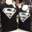 ซุปเปอร์แมน สีดำ (Superman logo WHITE) thumbnail 1
