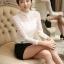 รหัส MN11 เสื้อสไตล์เกาหลี ดีเทลผ้าลูกไม้เนื้อนิ่มทรงเข้ารูป คอติด แขนยาวแต่งกระดุมหน้า งานมีซับในการตัดเย็บเรียบร้อยคุณภาพดีค่ะ thumbnail 1