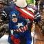 กัปตันอเมริกา ผ้า premium SCUBA (MVC-Captain America Punch CODE:1262) thumbnail 1