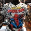 สไปเดอร์แมน ผ้า premium SCUBA (Amazing Spider man white CODE:1199) thumbnail 1