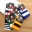 เซตถุงเท้าฟุตบอล ลายทาง สีพื้น ( 5 คู่ ) thumbnail 1