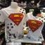 ซุปเปอร์แมน สีขาว (Superman red logo star CODE:1090) thumbnail 1
