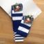 เซตถุงเท้าฟุตบอล ลายทาง สีพื้น ( 5 คู่ ) thumbnail 3