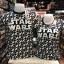 สตาร์วอร์ สีดำ (Star wars logo black white wars ship) thumbnail 1