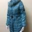 เสื้อโค้ทกันหนาวขนเป็ดแท้ สีฟ้า Size M thumbnail 4