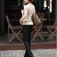 รหัส B51 เสื้อสตรีแขนยาวผ้าpolyester/cotton สวมใส่สวยสบาย ตัดเย็บเรียบร้อย thumbnail 1