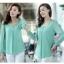 รหัส A71 เสื้อสตรีผ้าชีฟอง สวยเรียบสไตล์เกาหลีเหมือนแบบค่ะ cutting/pattern เนี้ยบ thumbnail 1
