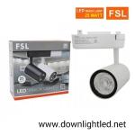 โคมไฟแทรคไลท์ LED 25w หน้ากลมสีขาว (แสงส้ม)