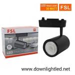 โคมไฟแทรคไลท์ LED 35w หน้ากลมสีดำ (แสงส้ม)