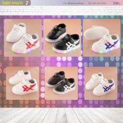 Baby Touch รองเท้าเด็ก รองเท้าไฟกระพริบ โอนิซึกะ(Shoes - FLO1)