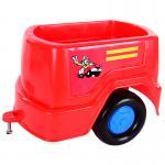 ของเล่นเด็ก รถนั่งไถ แล่นฉิว (กระบะพ่วงแดง)