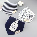 ผ้ากันเปื้อนเด็ก เซตแฟมิลี่ 3 ผืน ลายLove Milk