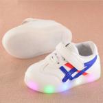 Baby Touch รองเท้าเด็ก รองเท้าไฟกระพริบ โอนิซึกะ (น้ำเงิน)
