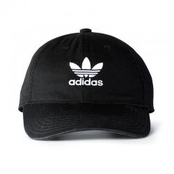 Adidas Originals Precurved Washed Strapback Hat - Black