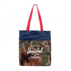 Herschel Packable Tote - Woodland Camo / Navy / Red