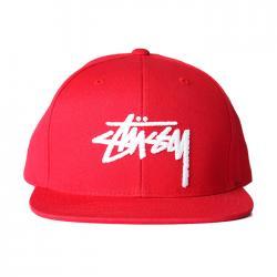 Stussy Stock Snapback - Red