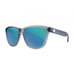 Knockaround Premiums Sunglasses - Frosted Grey / Green Moonshine
