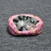 แมวนอนหลับบนโซฟา แมวสีเทาลายดำ 11x10