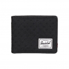 Herschel Hank Wallet - Black / Black Embroidery Polka Dot