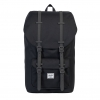Herschel Little America - Black/Charcoal Debossed Rubber