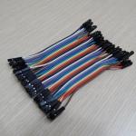 10cm Cable jumper 40P Male-Male (เมีย-เมีย)