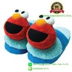 รองเท้า เอลโม่ผ้าร่อง+ผ้าขนหนู พื้นหนา [Sesame Street]